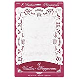 White Paper Placemat Doilies, 8ct