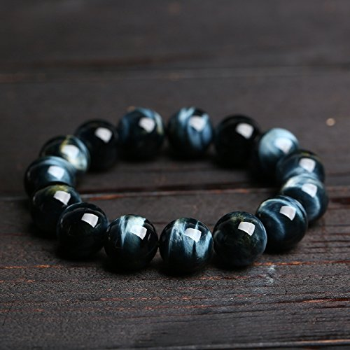 Master Hand Sanding Natural Blue Tiger Eye Bracelet