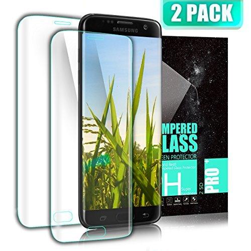 Kiomi Verre Trempé Samsung Galaxy S7 Edge, [Lot de 2] Couverture Complète Film Protection D'écran en Verre Trempé, Dureté 9H, Ultra Résistant Protecteur d'écran pour Galaxy S7 Edge