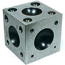 PARUU® Steel Dapping Block Jewelers Tool 2 x 2 x 2 Inch ST430