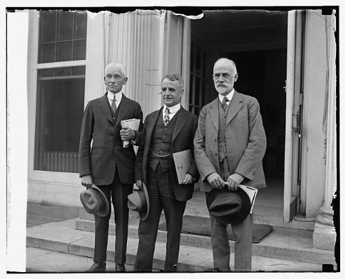 HistoricalFindings Photo: A.D. Denison,Dwight W. Morrow,W.F. Durand (spec. Aviation Board),9/17/25,1925