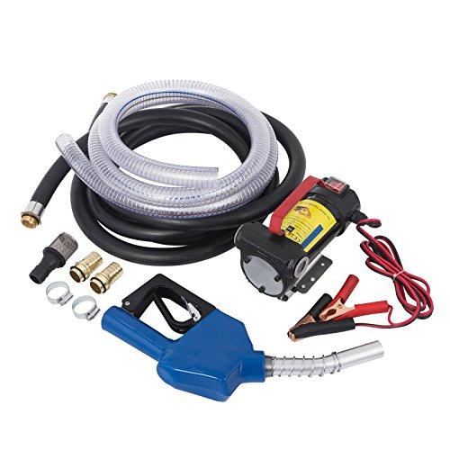 (Mophorn Fuel Transfer Pump Nozzle 175W 45 L/min Fuel Transfer Pump Bio Diesel Kerosene Oil Transfer Pump With Fuel Nozzle and Hose)