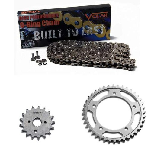 2001-2006 Suzuki GSXR 1000 O-Ring Chain and Sprocket Kit - Nickel (530 Nickel Plated O-ring Chain)