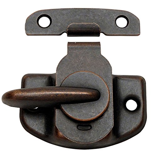 10 Pack - Designers Impressions 53744 Oil Rubbed Bronze Cam-Action Window Sash Lock and Keeper