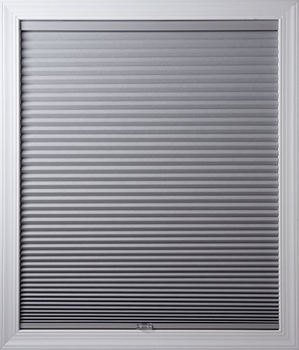 New Age Blinds Room Darkening Inside Frame Mount Cordless Cellular Shade 26-1/2 x 72-Inch Gray Sheen