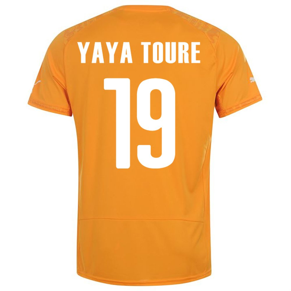 PUMA YAYA TOURE #19 IVORY COAST HOME JERSEY WORLD CUP 2014/サッカーユニフォーム コートジボワール ホーム用 ワールドカップ2014 背番号19 ヤヤトゥーレ B00K5A680Q XL