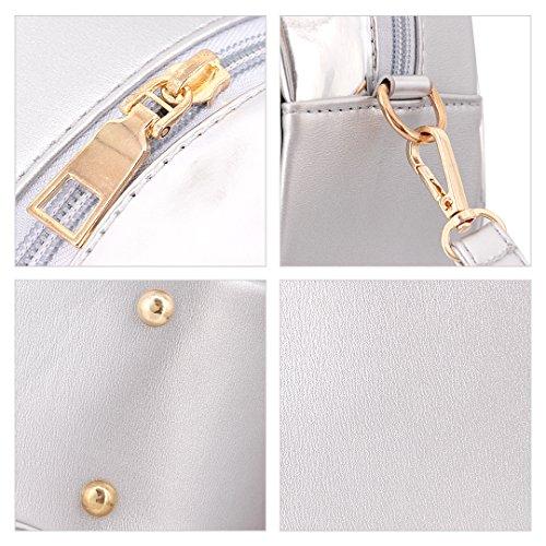 Novias Boutique - Bolso mochila  para mujer plateado plata plata