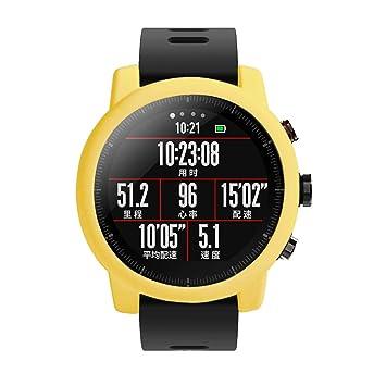 Saisiyiky Protector Case para Amazfit Huami Stratos 2/2S Smartwatch Reloj, Suave TPU Protectora