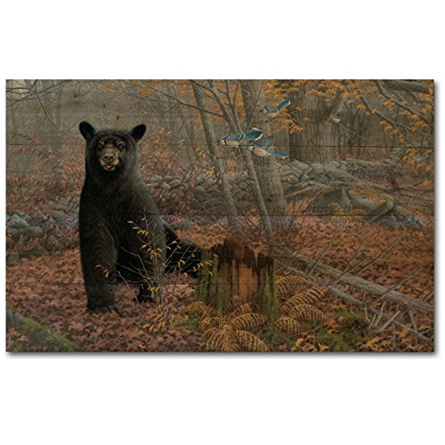 WGI-GALLERY WA-SWBB-2416 Stonewall Black Bear Wall Art