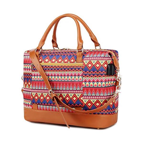 Borsone da viaggio weekend Borsa da palestra handbag Tote da borsa sportiva con porta USB Borsa tote per laptop comoda… 1 spesavip