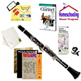 Homeschool Music - Learn to Play the Clarinet Pack (Rock Jams Music Book Bundle) - Includes Student Clarinet w/Case, DVD, Books & All Inclusive Learning Essentials