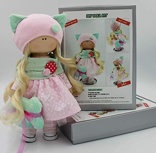 DIY Doll Kit Make your own Interior Tilda Doll (Kitty)