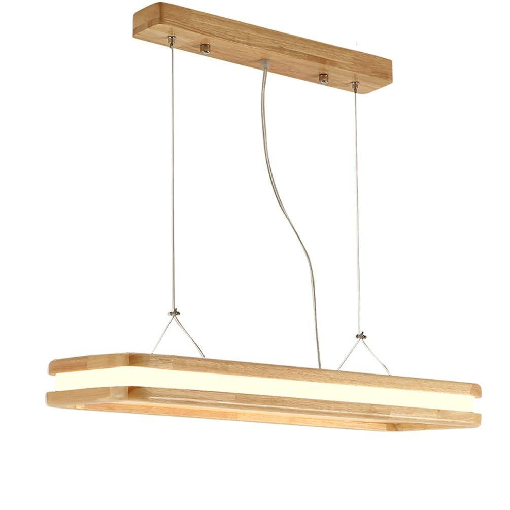 Modern LED Esstisch Pendelleuchte Pendellampe Holz Hängeleuchte Hängelampe Bürolampe Höheverstellbar für Esszimmer Wohnzimmer Büro Restaurant Cafe Studio