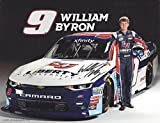 AUTOGRAPHED 2017 William Byron #9 Liberty University Racing (Jr Motorsports) Xfinity Series Signed Collectible Picture 9X11 Inch NASCAR Hero Card Photo with COA