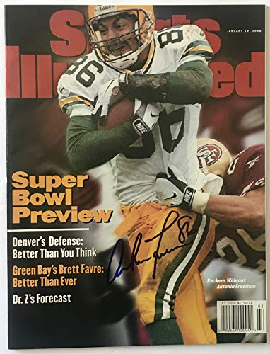 (Antonio Freeman green bay Packers signed si Sports Illustrated magazine football super bowl)