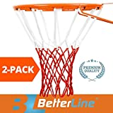 Professional Basketball Net (2-Pack), All-Weather Thick Heavy Duty | Multi-pack - 12 Loop Nets (Red & White) - 2 Basketball Nets in Pack