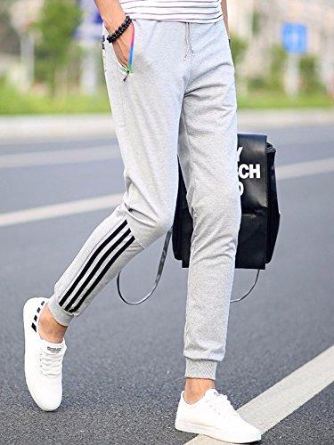 Manluodanni Pantalons Slim Pants Survêtement Homme Jogging Sport Gris Long De Fit Casual wRwFxrpqa