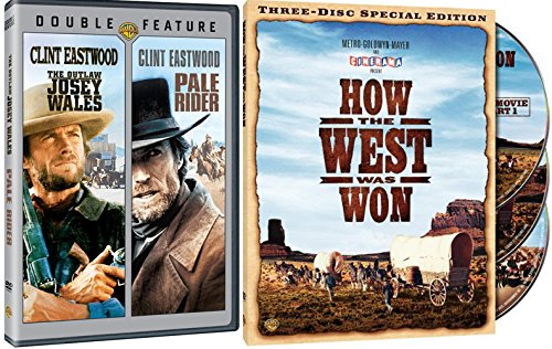 How the West was Won + The Outlaw Josey Wales & Pale Rider DVD Western Pack 3 Movie Set Clint Eastwood