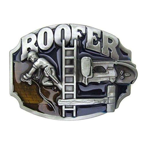 Belt Buckle Roofer Hammer Tools Ladder Vintage Fire Fighter Firemen EMT Tools Leather Lot Metal Occupation (Firefighter Ladder Belt)