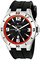 Tommy Hilfiger Men's 1791064 Stainless Steel Watch with Black Silicone Band