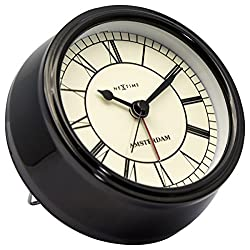 Unek Goods NeXtime Small Amsterdam Table Clock, Metal, Black