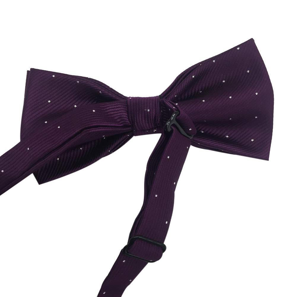 Mens Pre-tied Formal Tuxedo Bow Tie Silvery Dots Bowtie (Light Blue)