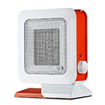 WE&ZHE Waterproof Fan Heater Electric Heater Adjustable Thermostat Ceramic Space Heater for Bathroom Household Office