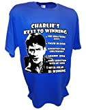 Men's Charlie Sheen Winning Two and a Half Funny Interview By Achtung T Shirt LLC