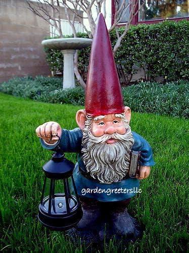 Solar Lantern/Light Gnome Statue Solar Gnome Figurine
