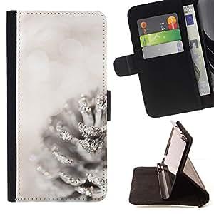 For LG G4 Stylus / G Stylo / LS770 H635 H630D H631 MS631 H635 H540 H630D H542 Case , Blanca Acorn Glitter Nieve Navidad- la tarjeta de Crédito Slots PU Funda de cuero Monedero caso cubierta de piel