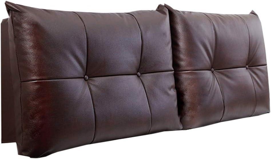 Bett Kopfteil Kissen Kopfteil Kissen Bett R/ückenkissen-Golden Brown-Leder Bedside Cushion Hotel R/ücken Weichte Kopf JINRONG Color : A, Size : No headboard - 90 * 60 * 10cm