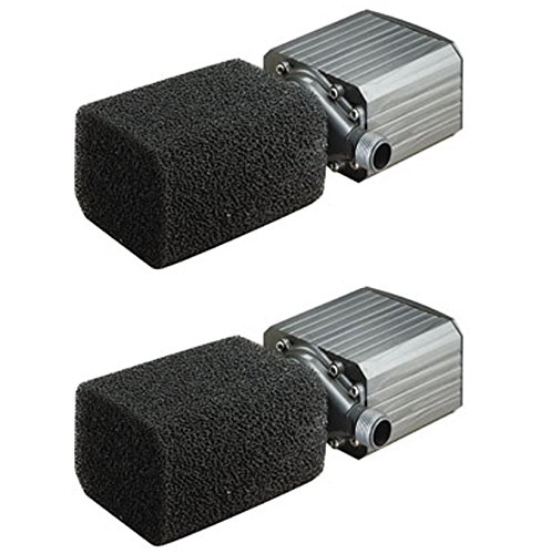 (2) PONDMASTER Model 12 Supreme 1200 GPH Mag Drive Fountain Pond Pumps | 02712 by PondMaster