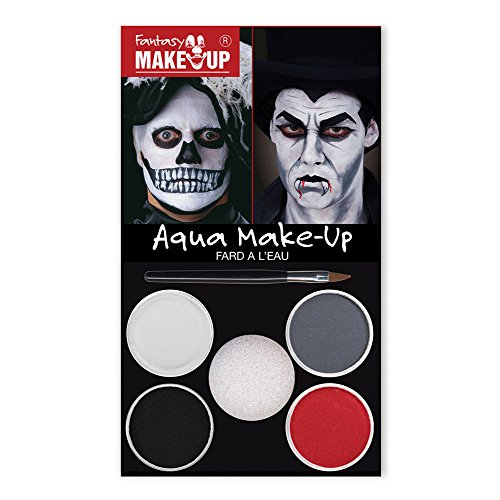 Bristol Novelty MU034 Dracula Skull Aqua Make up Kit, Unisex-Adult, One ()