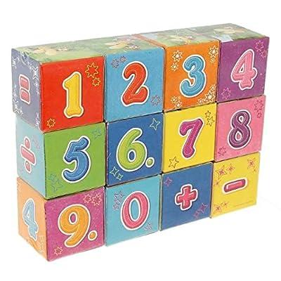 U|R Zabiaka Cubes Arithmetic 12pcs Cardboard Кубики Zabiaka Арифметика 12шт картон Kubiki Zabiaka Arifmetika 12sht karton: Toys & Games