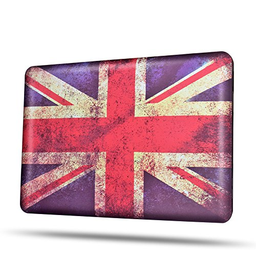 TNP MacBook Pro 13 Case [UK Flag Pattern] - Soft-Touch Plastic Matte Hard Shell Protective Case Cover Skin for Apple MacBook Pro 13 Inch - Tiffany Cheap Uk