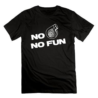 Richard Lyons Mens No Turbo No Fun PClassic Tshirt Black S