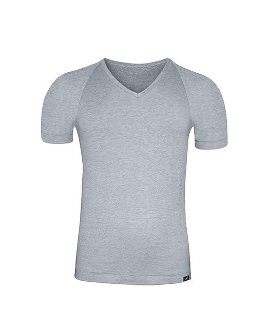 Camiseta Interior Hombre - Talla Grande- de Manga Corta con Cuello Pico -Algodón Egipcio- Talla Extra Grande 4XL/5XL - Color Gris: Amazon.es: Ropa y ...