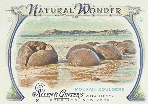 2014 Topps Allen Ginter Baseball Natural Wonder #NW-13 Moeraki Boulders