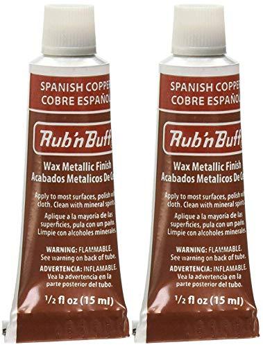 Finish Buff Metallic - Rub 'n Buff The Original Wax Metallic Finish (Spanish Copper) 2 pcs sku# 1835750MA