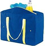 PEARL Größenverstellbare Nylon-Kühltasche 4-21 Liter, EPE-isoliert, faltbar
