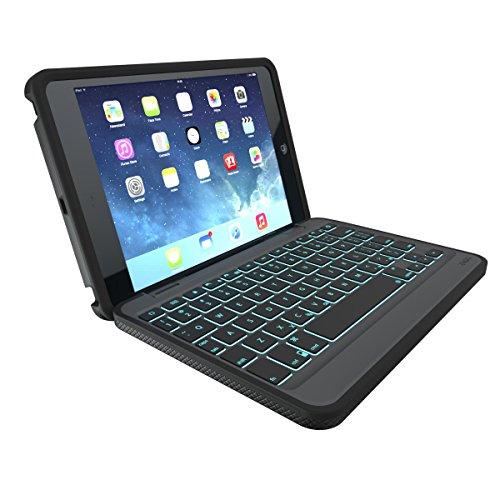ZAGG Rugged Book Durable Case, Hinged with Detachable Backlit Keyboard for iPad Mini/Mini 2/ Mini 3 - Black by ZAGG (Image #2)