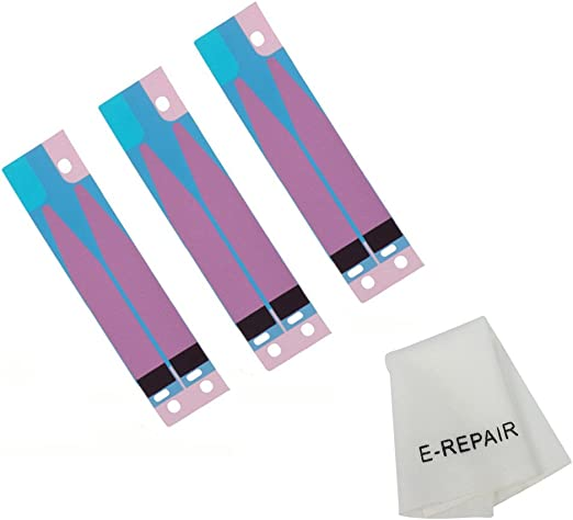 3 Pcs Afeax Compatible Battery Glue Adhesive Tape Stripe Replacement for iPhone 8 Plus 5.5 inch