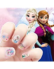 Frozen Prenses Elsa ve Anna Makyaj Tırnak Çıkartmaları