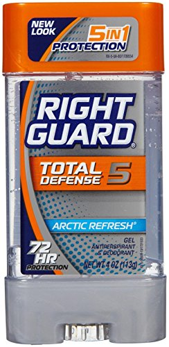 Right Guard Total Defense 5 Power Gel Antiperspirant/Deodorant, Arctic Refresh for Unisex - 4 oz