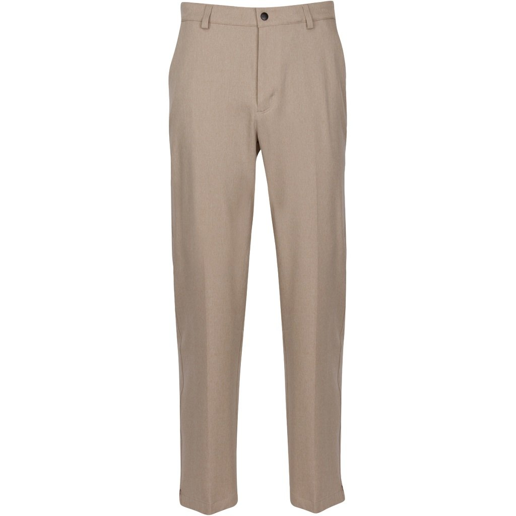 Greg Norman Men's Classic Pro-fit Pant, Bamboo Heather, W: 34'' x L: 32'' by Greg Norman