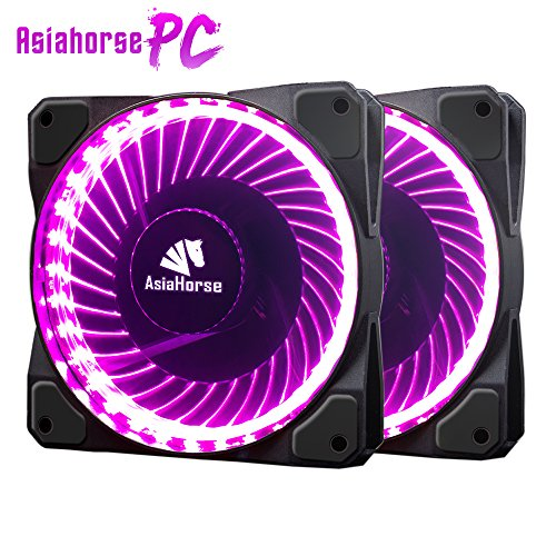 Asiahorse Solar Eclipse MIRAGE 32LED 120mm Cooling PC Compute custom Quiet case fan 2PACK(PURPLE) -