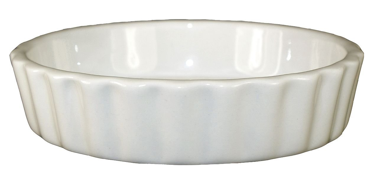 International Technidyne (ITC) - SOFR-5-AW - Souffle Round Dish, 6 oz. Ceramic, American White