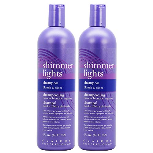 Clairol Professional Shimmer Lights Shampoo Blonde & Silver 16 oz (Pack of - Shampoo Silver Lights