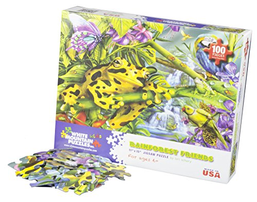 - White Mountain Puzzles Rainforest Friends - 100 Piece Jigsaw Puzzle