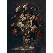 Oil painting 'Arellano Juan de Florero Second half of 17 Century ' printing on Perfect effect canvas , 8 x 11 inch / 20 x 28 cm ,the best dining Room decoration and Home decoration and Gifts is this Imitations Art DecorativePrints on Canvas